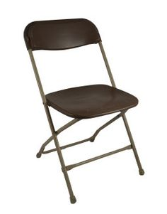 Folding Chair, Brown Samsonite