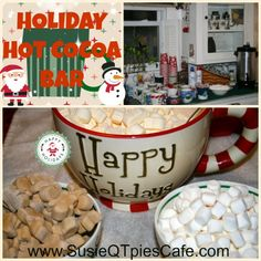 Christmas Hot Cocoa Bar for your Holiday Parties