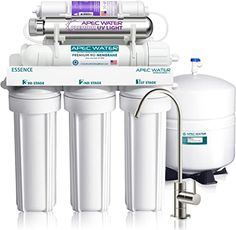 APEC Water Systems Essence Series Top Tier Alkaline Mineral and Ultra-Violet UV Sterilizer 75 GPD Ultra Safe Reverse Osmosis Drinking Water Filter System ** Find out more about the great product at the image link. (This is an affiliate link) Reverse Osmosis Water, Reverse Osmosis System, Water Filtration System, Water Systems, Drinking Water Filter, Water Filters, Water Well, Under Sink