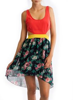 high-low floral dress $40.90