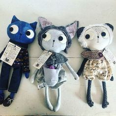 Cuteness overload! Sharing more small business in this #smallbusinesssaturday. Meet @pinkyminkymakes she makes super cute kittys made from fabric and fluf  #smallbizsatuk
