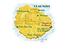 La Gomera  map- Canary Islands. From CN Traveller Magazine