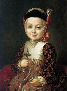 It is known that Catherine II became the ruler of Russia in the result of the rebellion. But what was the reason for it? Scholars investigated and the result is unexpected. Actually Catherine would be brought to prison by her husband Peter III as she was pregnant from Grigori Orlov and born a child. This is the portrait of Alexey Bobrinskiy, her illegitimate son, painted in the mid of 1760s. He became an officer of Imperial Army. He was in good relations with his half-brother Pavel I.