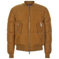 DSquared2 Padded Bomber Jacket ($1,010) ❤ liked on Polyvore featuring men's fashion, men's clothing, men's outerwear, men's jackets, mens padded jacket, mens bomber jacket and mens padded bomber jacket