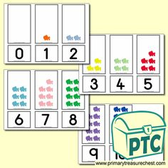 Number Shapes 0 to 10 - Maths Resources - Foundation Phase - Primary Treasure Chest Teaching Activities, Sensory Activities, Teaching Ideas, Activities For Kids, Crafts For Kids, Maths Resources, Maths Display, Sound Art, Sea Colour