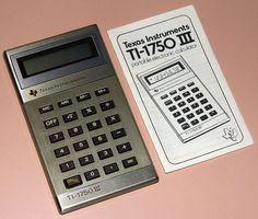 Vintage Texas Instruments Model TI-1750 III Electronic Pocket Calculator, LCD Display In USA, Circa 1982.