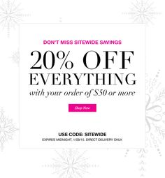 Take 20% Off everything in the store! To order, visit www.youravon.com/SavvyInvestorMom or email me at TanyaYourAvonLady@outlook.com