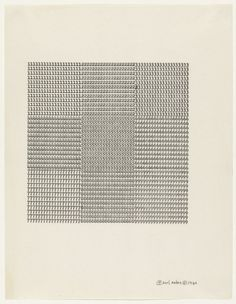 Carl Andre Untitled 1960