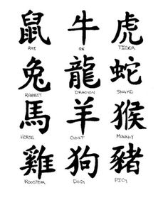 Chinese zodiac tattoos by xxDistortion