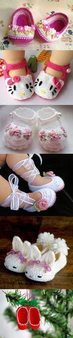 Wonderful DIY Mini Crochet Slippers Crochet Slippers Baby Wonderful DIY Crochet Baby Slippers Knitting works add some time when ladies spend their time t. Crochet Diy, Crochet For Kids, Crochet Crafts, Crochet Projects, Crochet Girls, Crochet Baby Clothes, Crochet Baby Shoes, Crochet Slippers, Booties Crochet