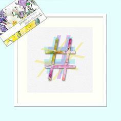 Hashtag Design, Pastel Colours, Modern Decor, Printable Art, Instant Download, Letter,Typography, Watercolour Print, Wall Art Poster # Canvas Prints, Framed Prints, Art Prints, Thing 1, Pastel Colours, Typography, Lettering, Watercolor Print, Printing Services