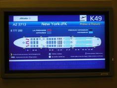 Rapport detaille d'un voyage en avion (Paris-NY avec Air France)