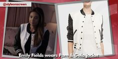 Where did Emily Fields (Shay Mitchell) get her black and white letterman jacket from on Pretty Little Liars S5 E4? - Style On Screen