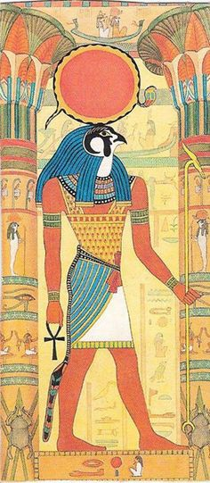 Since Horus was said to be the sky, he was considered to also contain the sun and moon. It became said that the sun was his right eye and the moon his left, and that they traversed the sky when he, a falcon, flew across it.