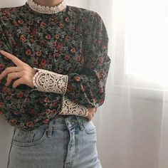 Image may contain: one or more people and people standing Bohemian Tops, Pretty Outfits, Cool Outfits, Fashion Outfits, Grunge Outfits, Vintage Outfits, Vintage Fashion, Aesthetic Fashion, Aesthetic Clothes