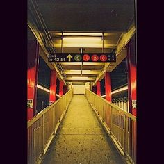 (2) Tumblr  times square station no longer in use.  The subway still looks like this.