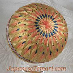 Vintage Japanese Temari a chrysanthemum design by JapaneseTemari, $120.00