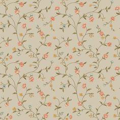 Waverly Cottage Bellisima Vine Wallpaper, Café Au Lait/Pink/Brown/Blue/Butterscotch/White