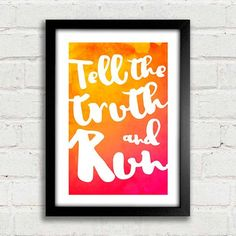 Poster Tell The Truth and Run - comprar online