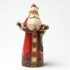 Make Your Spirit Bright - Classic Santa With Ornaments