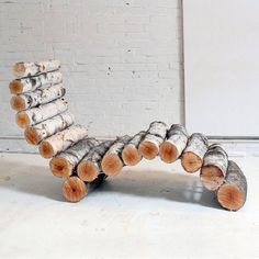 Recycled Lounge Chair Made Out of Logs