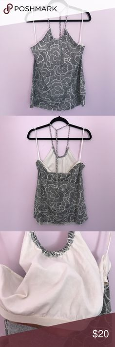 Flower Design Halter Top Barely used. Has a built in modesty top. No rips, tears, or stains. Comes from a smoke free and pet friendly home! Old Navy Tops