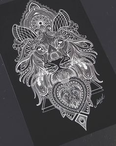 "3,024 Likes, 80 Comments - Coen Mitchell TATTOOGOLD (@coenmitchell) on Instagram: ""Mosaic Lion A3 prints available on my website:  Www.tattoogoldnz.com  @tattoogold_  #mosaicflow…"""