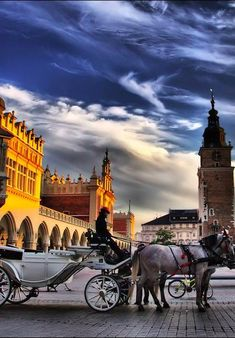 Krakow, Poland - I travelled around the city on one of these when I visited last week. Felt like a fairytale