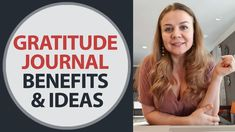 Gratitude journal benefits and Gratitude journal ideas. How to write gra... Online Psychologist, How To Become Successful, Overcoming Anxiety, Feelings And Emotions, Motivational Videos, Self Awareness, Stress And Anxiety, Self Development, Helping Others
