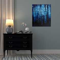 24 hours - minimal and expressive abstract art in home interior context