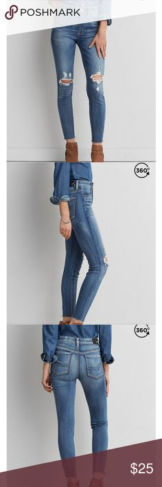 American Eagle AEO SATEEN HI- RISE Jegging They are new, the material is great and comfortable. American Eagle Outfitters Jeans Skinny