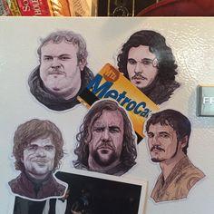 Game of Thrones Fridge Magnet Set by CastleMcQuade on Etsy