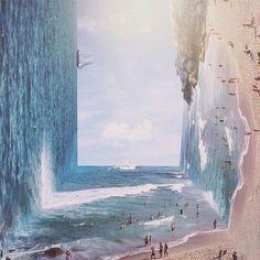 Surreal landscape artworks by graphic designer Jati Putra Pratama. More on ignant.de...