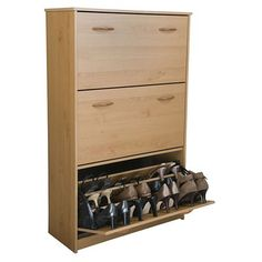 Rebrilliant Triple 14-Pair Shoe Storage Cabinet Finish: