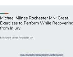 Dr. Michael Milnes Rochester, MN: Healthy Lifestyle