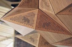 rvtr: resonant chamber origami architectural acoustic panels - designboom | architecture