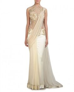 Ivory Sari Gown