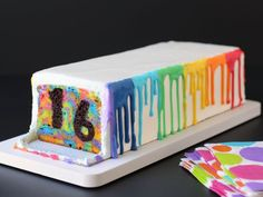 Make this rainbow surprise-inside cake from Food Network for your next birthday party.