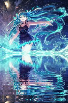 Photo of Hatsune Miku!~ for fans of Vocaloids 38755659 Vocaloid, Miku Chibi, Anime Girl Cute, Beautiful Anime Girl, Cute Anime Couples, Anime Art Girl, Manga Girl, Anime Girls, Manga Kawaii