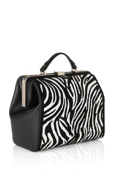Patterned leather handbag: 'Romy-Z'