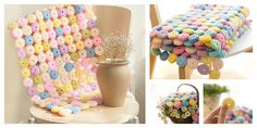 This blanket with macarons is very special and attractive. You make one with the Crochet YoYo Puff Free Pattern and Video Tutorial.