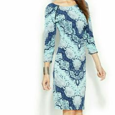 NWT INC snakeskin Print Zippered Details Dress This very cute dress made by International Concepts is brand new and never worn.  Originally $79 INC International Concepts Dresses