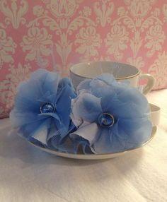 Light Blue Vintage Baby Girl Headband by Heart2HomeCreations, $9.00