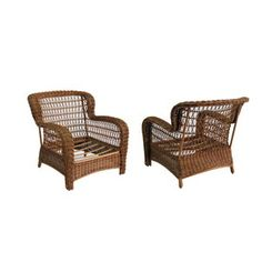 Allen Roth Set Of 2 Belanore Textured Coffee Steel Strap Seat Patio Chairs  Without Cushions