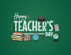 Happy teachers day with school supplies Premium Vector Teachers Day Speech, Happy Teachers Day Wishes, Teachers Day Special, Teachers Day Celebration, Teachers Day Poster, Fond Design, Zeina, Free Education, Education Logo