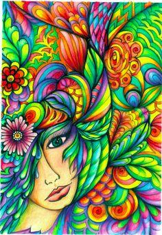 Color Pencil from DreamScapes coloring Book