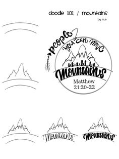 Move the mountains doodle for Bible journaling! Scripture Art, Bible Art, Scripture Doodle, Bible Doodling, Bible Drawing, Daily Drawing, Drawing Lessons, Art Lessons, Life Quotes Love