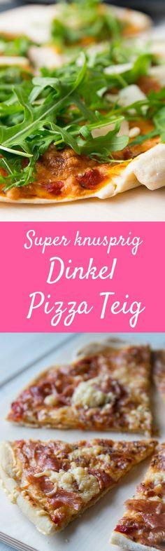 Knusprig & superdünner Boden - Crunchy Pizzateig mit Salami und Mozarella oder Rucola und Parmesam