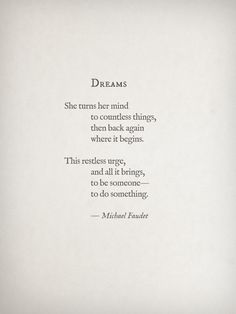 Dreams by Michael Faudet