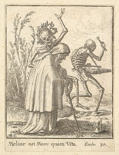 Wenceslaus Hollar (Bohemian, 1607–1677) After Hans Holbein the Younger (German, 1497/98–1543). Old woman, from the Dance of Death, 1651. The Metropolitan Museum of Art, New York.  The Elisha Whittelsey Collection, The Elisha Whittelsey Fund, 1951 (51.501.2139).